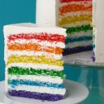 torta strati arcobaleno