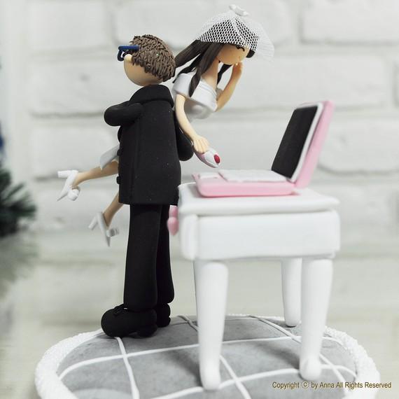 Computer Wedding Cake