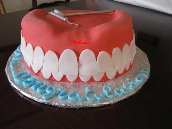 Torta Cake Design Dentista : torta-arcata-dentaria-006