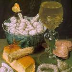 George Flegel (1566-1638) Natura morta con pane e dolciumi