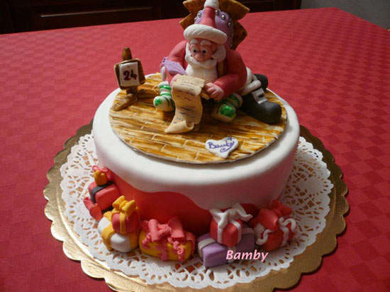 Torte di natale di cake design decorate con pasta di - Torte natalizie decorate ...