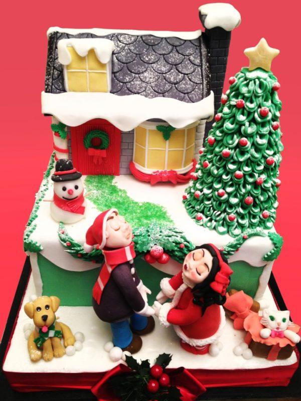 Torte decorate con albero di Natale