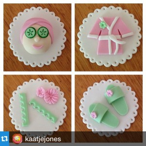#Repost @kaatjejones with @repostapp.・・・Loved making these Beauty Spa cupcakes for…