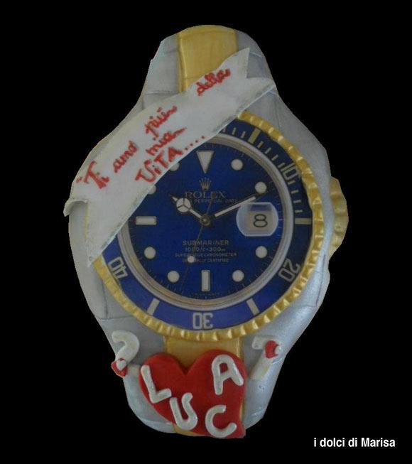 Torta orologio Rolex: torte decorate a forma di orologio ...