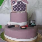 torta decorata a forma di borsa