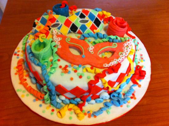 Torta di carnevale di sara f cakemania dolci e cake design - Decorazioni per torte di carnevale ...