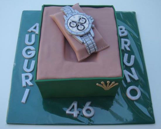 Cake Artist Francesca La Spina : Torta orologio Rolex: torte decorate a forma di orologio ...