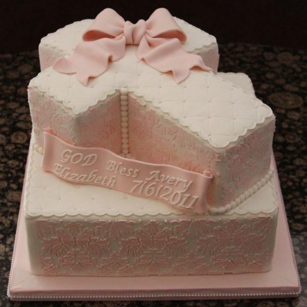 torta croce battesimo