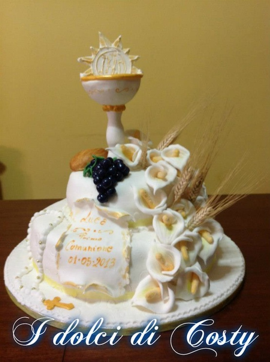Gold Chalice Cake Topper