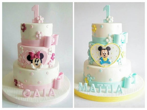 baby minnie mickey cake