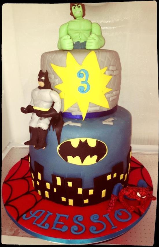 Hulk batman Cake & art