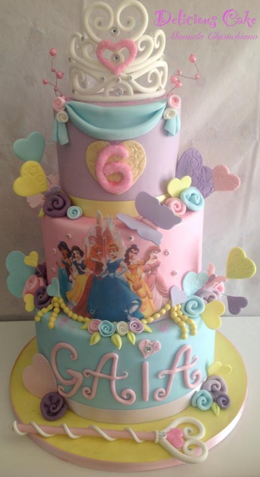 Torta Principessa Per Compleanno Bambina