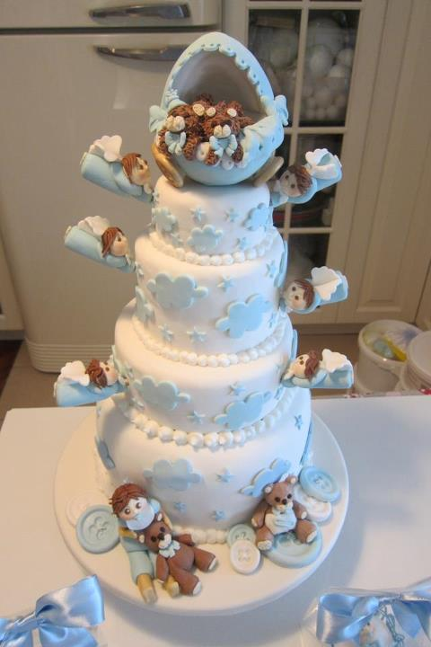Exceptionnel Tante idee per un baby shower: torte decorate per bambini  AA22