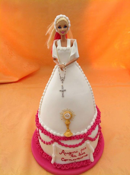 Le 10 torte per la Prima Comunione barbie