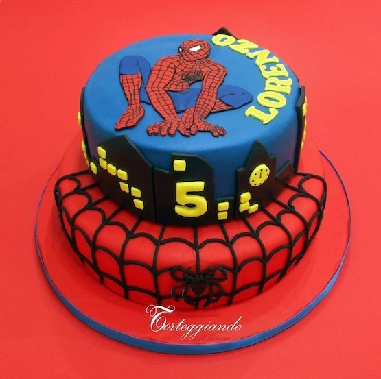 Lego Spiderman Cake Topper