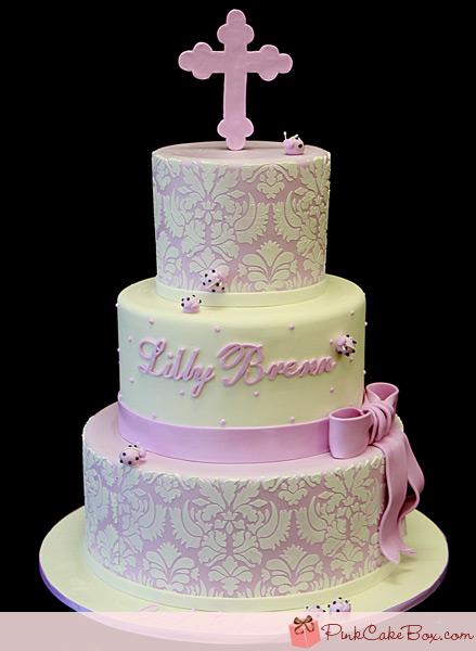 battesimo torta rosa