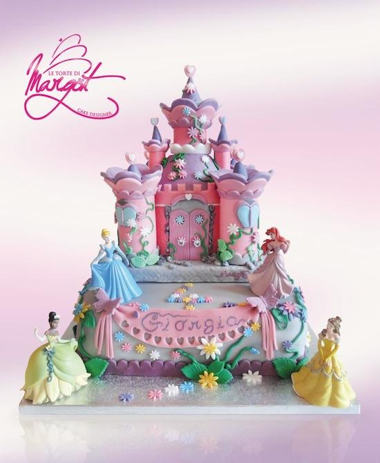 torte di principesse torta principesse : Torte castello con le principesse e principesse Disney
