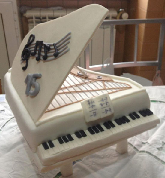 Guitar Shaped Cupcake Cake