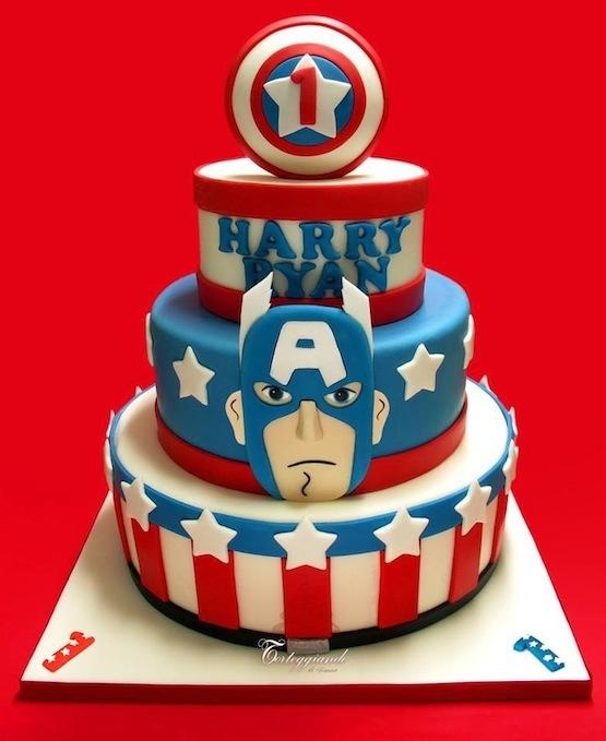Captain America Cakes Uk