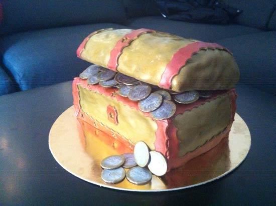 Arte E Zucchero Cake Design By Dora Luca : torta-forziere