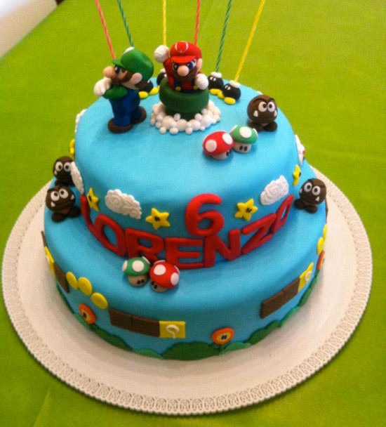 torte decorate con super mario bros cakemania dolci e. Black Bedroom Furniture Sets. Home Design Ideas