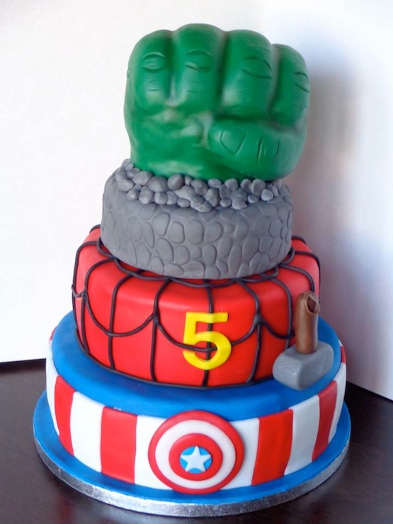 Two Tier Spiderman Cake