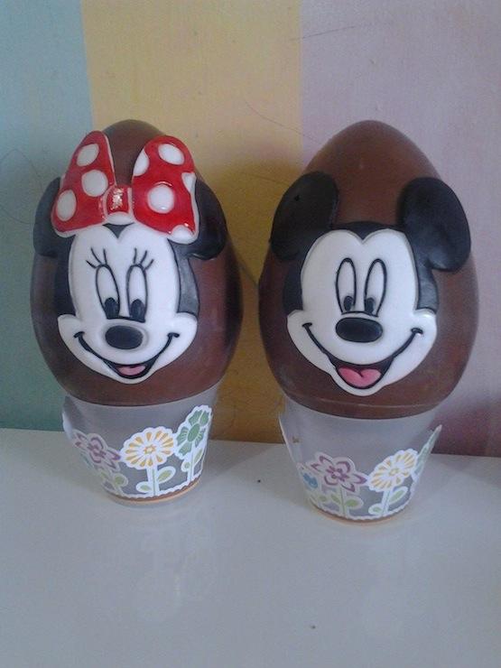 Uovo pasqua topolino minnie - Uova di pasqua decorati a mano ...