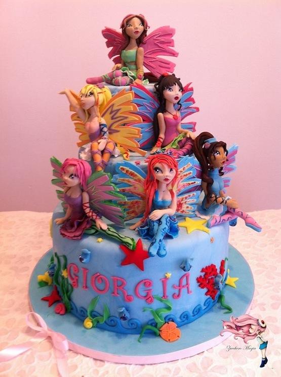 Torta winx di cake design come farla
