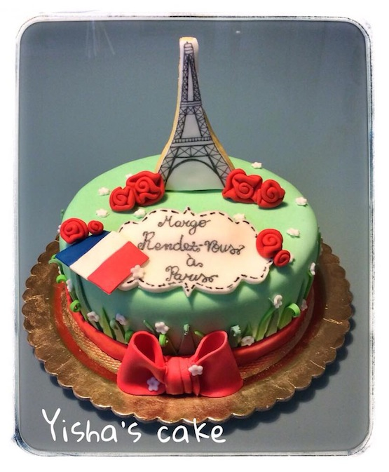 Torta Parigi - torte di cake design con la Torre Eiffel