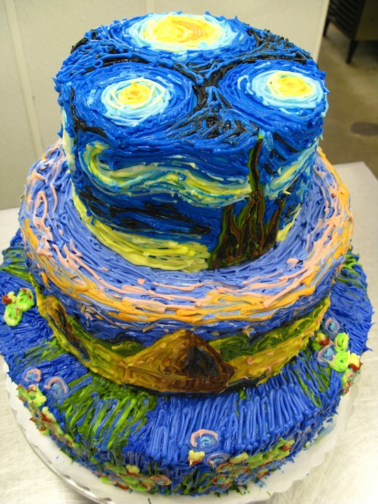 torte ispirate alle opere d'arte