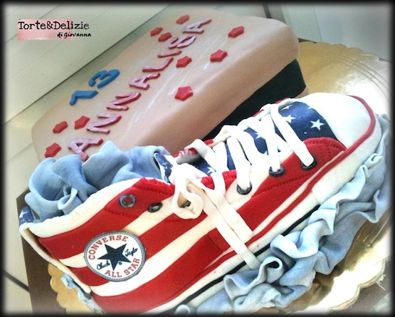 best sneakers de3d3 57ae0 Torte decorate con scarpe in pasta di zucchero