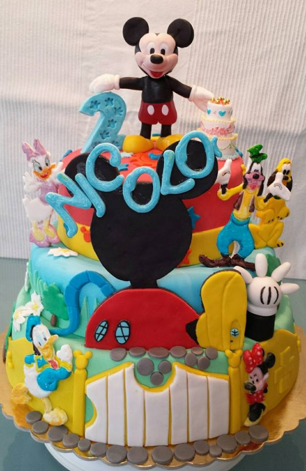 Cake Mickey And Minnie Mouse