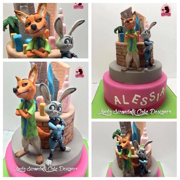 torta zootropolis cakemania dolci e cake design