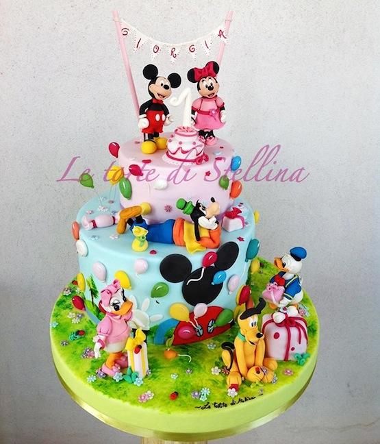 topolino e amici torta