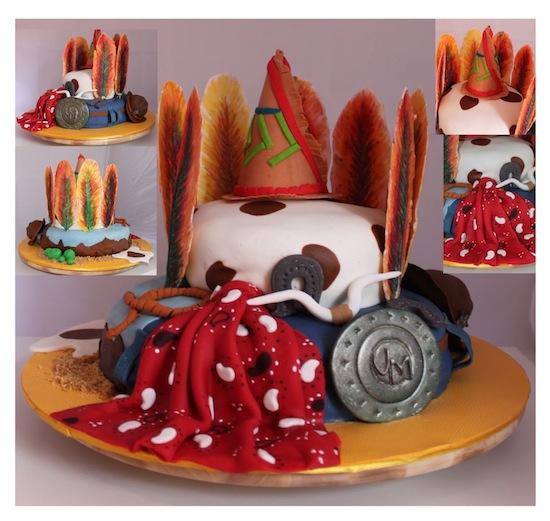 Cowboy Design Cake