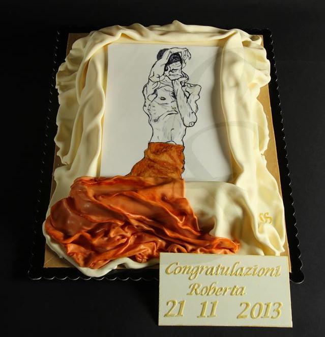 Egon Schiele cake