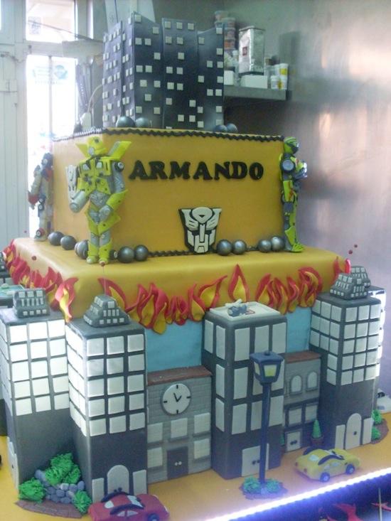 Torta trasformers cakemania dolci e cake design