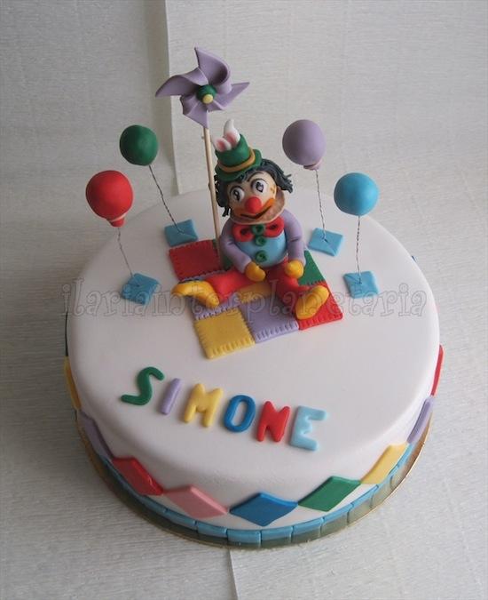 Torte con il circo e i pagliacci cakemania dolci e cake - Decorazioni per torte di carnevale ...