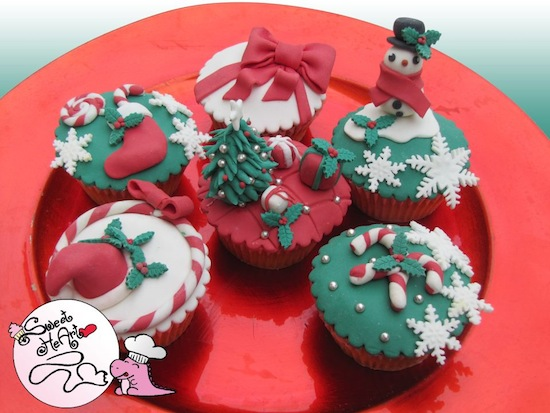 cupcake decorate per Natale