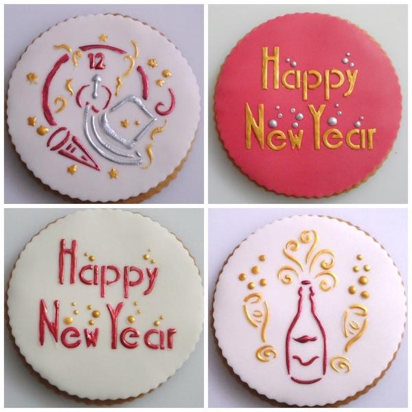 Biscotti decorati per Capodanno