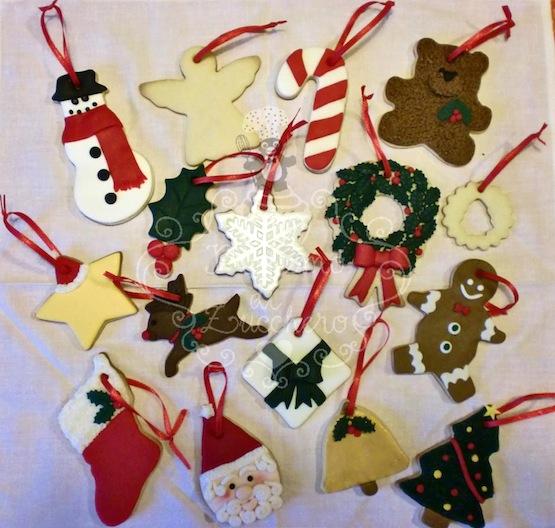 Biscotti Natale Pasta Di Zucchero.I Biscotti Di Natale Decorati Con Pasta Di Zucchero Del