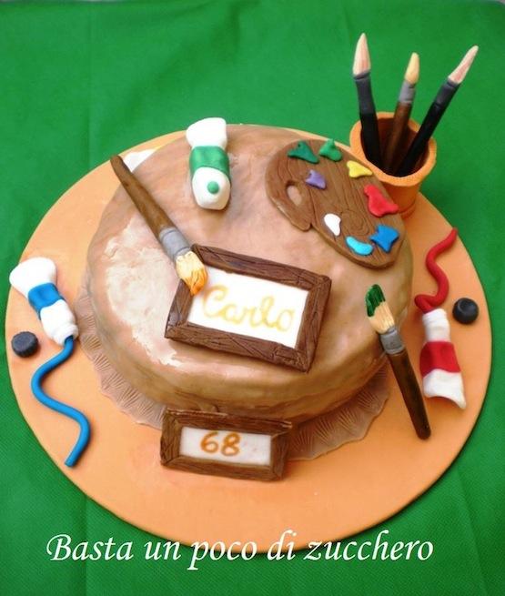 Torte per pittori e scultori cakemania dolci e cake design for Arte delle torte clementoni