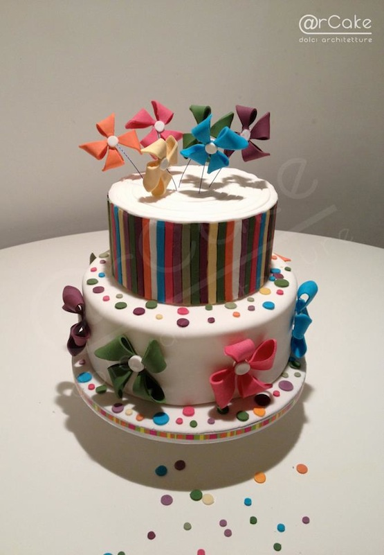 coriandoli torta decorata