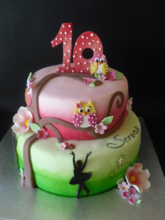 Torte con i gufi  teneri dolci di cake design e50d788d12a3