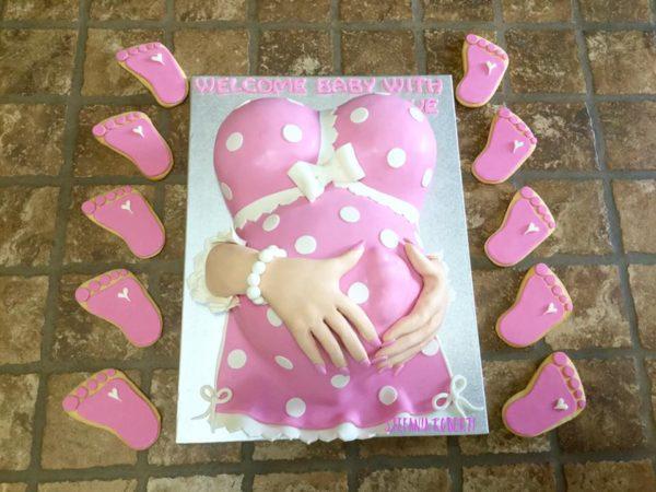 torta baby shower piedino