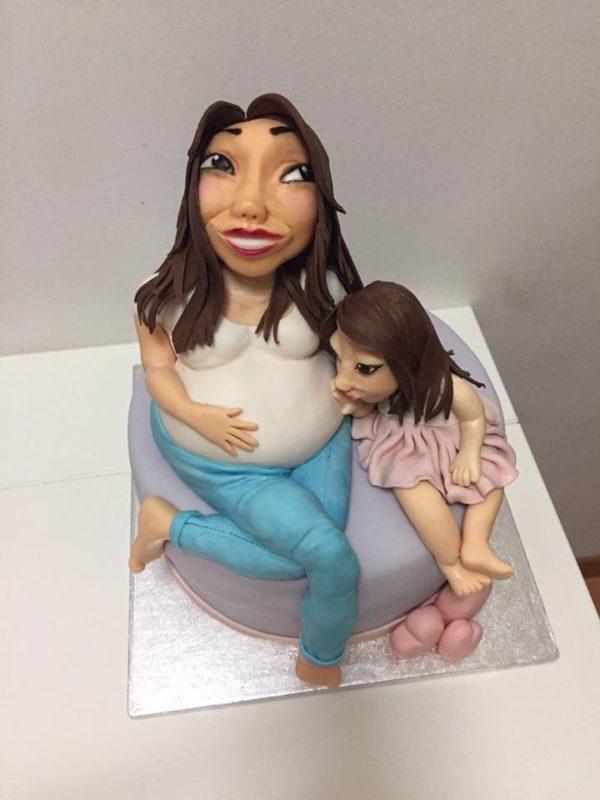 torta donna incinta