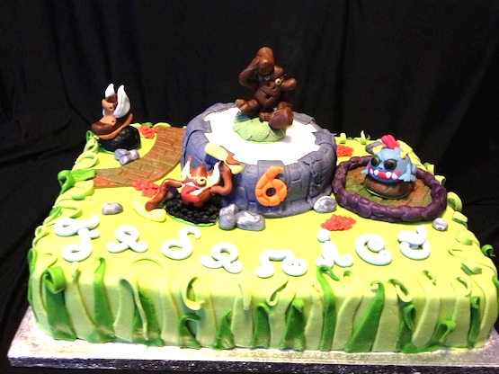 Skylanders Cupcake Cake