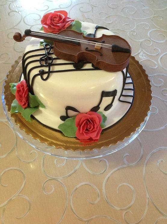 Music Theamed  Birthday Cake