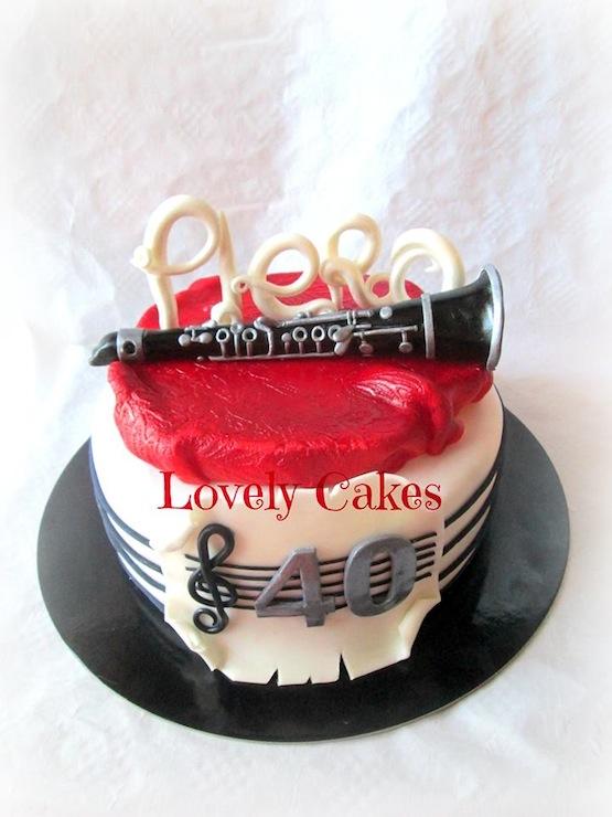 Torta Compleanno Laura.Torta Clarinetto Laura Daluiso Cakemania Dolci E Cake Design