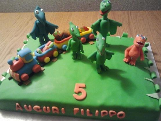 Torte il treno dei dinosauri cakemania dolci e cake design
